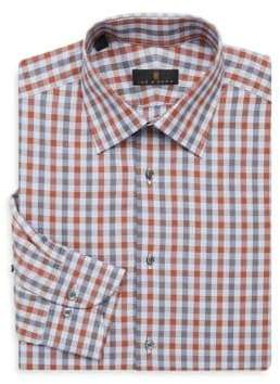 Ike Behar Regular-Fit Check Button-Front Shirt