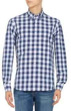 Black & Brown Black Brown Gingham Button-Down Cotton Shirt