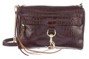 Rebecca Minkoff Embossed M.A.C Crossbody Bag - BROWN - STYLE