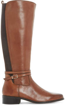 Dune Ladies Brown Classic Taro Leather Knee-High Boots