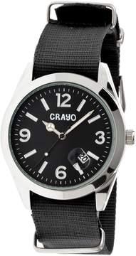 Crayo Sunrise Black Dial Black NATO Nylon Ladies Watch