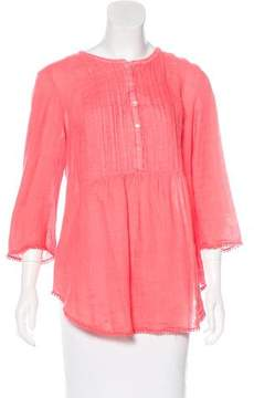 Calypso Linen Pleated Blouse w/ Tags