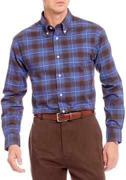 Daniel Cremieux Signature Big & Tall Large Check Heather Long-Sleeve Woven Shirt