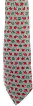 Hermes Silk Snail Print Tie