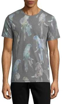 Jack and Jones Bird-Print Crewneck Tee