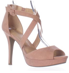 Material Girl Womens Helenah Open Toe Casual Ankle Strap Sandals.
