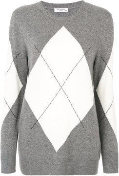 Equipment argyle sweater