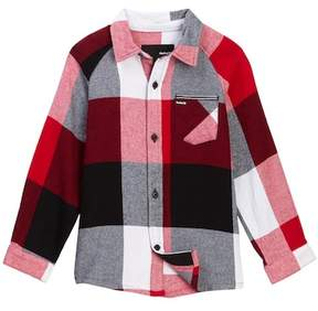 Hurley Long Sleeve Flannel Shirt (Little Boys)
