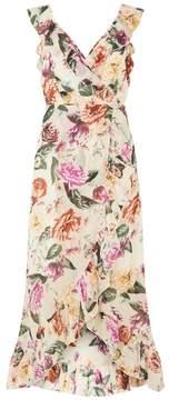 Dorothy Perkins Floral ruffle wrap maxi