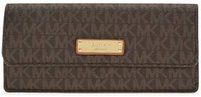 Michael Kors Flat Signature Logo Wallet - Brown - ONE COLOR - STYLE