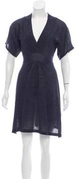 Christian Lacroix Bazar de Metallic Knit Mini Dress