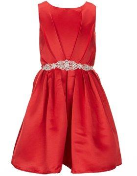 Blush by Us Angels Big Girls 7-16 Sleeveless Beaded-Waist Dress
