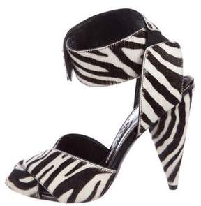 Tom Ford Printed Ponyhair Sandals