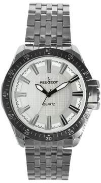Peugeot Watches Men's Carbon Fiber Silver Dial Sport Watch - Silver