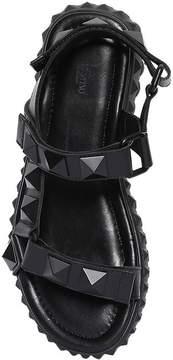 Valentino Stud Sport Studded Leather Strap Sandals