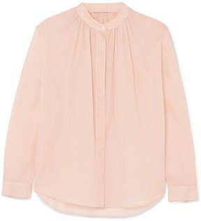 Jil Sander Gathered Cotton-organza Shirt - Pink