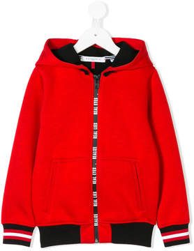 Givenchy Kids zipped hooded jacket