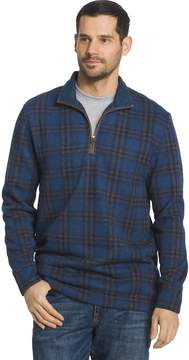 Arrow Big & Tall Men's Classic-Fit Windowpane Fleece Quarter-Zip Sweater