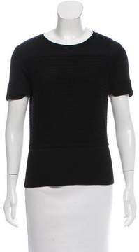 Brooks Brothers Wool Short Sleeve Top