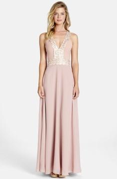 Dress the Population Women's Delani Crepe Gown