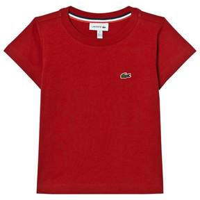 Lacoste Red Branded Jersey T-Shirt