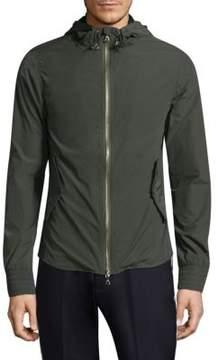Officine Generale Hooded Zip-Front Jacket