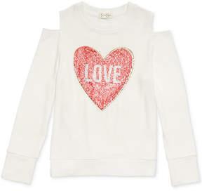 Jessica Simpson Bianca Love Cold-Shoulder Shirt, Big Girls (7-16)