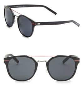 Christian Dior 52MM Round Aluminum Sunglasses