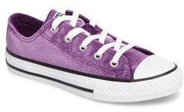 Converse Girl's Chuck Taylor All Star Velvet Ox Low Top Sneaker