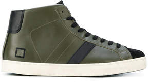 D.A.T.E lace up hi-top sneakers