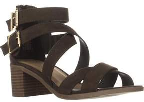 Material Girl Mg35 Danee Block Heel Strappy Sandals, Olive.