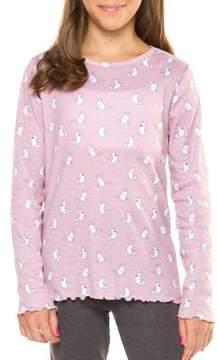 Dex Girl's Cat Print Pajama Top