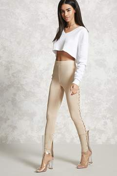 Forever 21 Lace-Up Skinny Pants