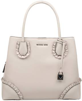Michael Kors White Mercer Gallery Leather Top Handle Bag - WHITE - STYLE