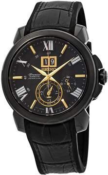Seiko Premier Kinetic Perpetual Black Dial Men's Watch