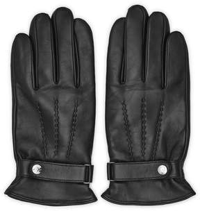 Reiss FOSTER Leather Button Gloves