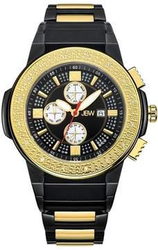 JBW Saxon Black Dial Black and Gold IP Steel Diamond Men's Watch
