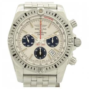 Breitling Chronomat silver watch