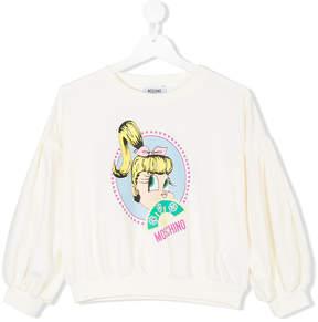Moschino Kids cartoon print sweatshirt