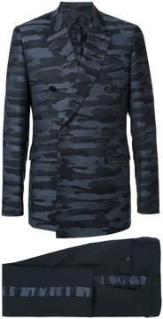 Cerruti camouflage print two piece suit