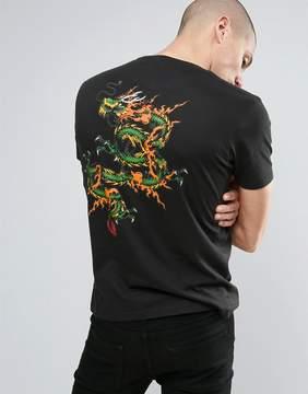 Brave Soul Dragon Back Print T-Shirt