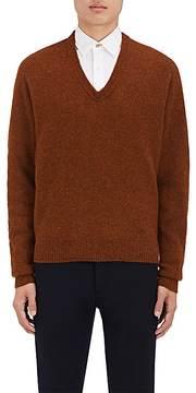 Lemaire Men's Mélange Wool V-Neck Sweater