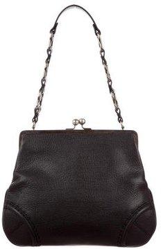 Burberry Pebbled Leather Frame Shoulder - BLACK - STYLE