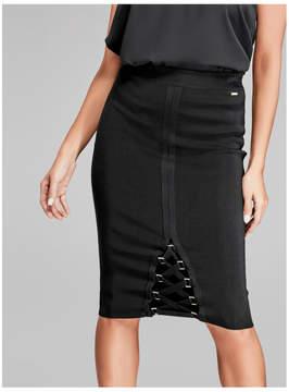GUESS Gaia Lace-Up Bandage Pencil Skirt