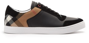 BURBERRY Reeth low-top leather trainers
