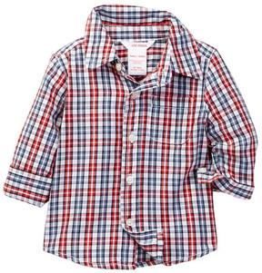 Joe Fresh Plaid Button Down Shirt (Baby Boys)