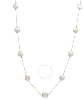Bella Pearl 10K Gold Chain Floating Pearl Necklace