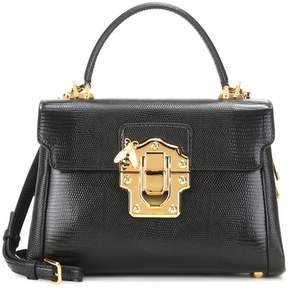 Dolce & Gabbana Lucia embossed leather crossbody bag