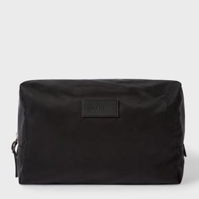 Paul Smith Men's Black Webbing Stripe Wash Bag