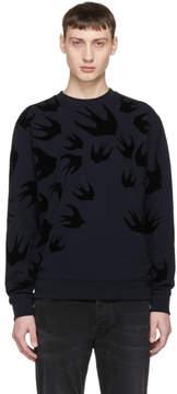 McQ Navy Swallow Swarm Clean Sweatshirt